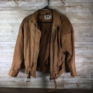 ADA Genuine Leather Moto Jacket